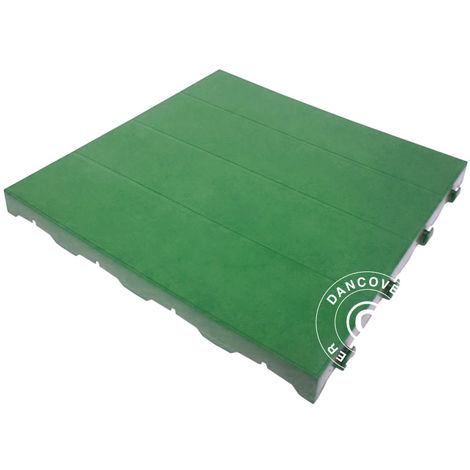 Plastic flooring Basic, Piastrella, Green, 1.44 m² (9 pcs.)