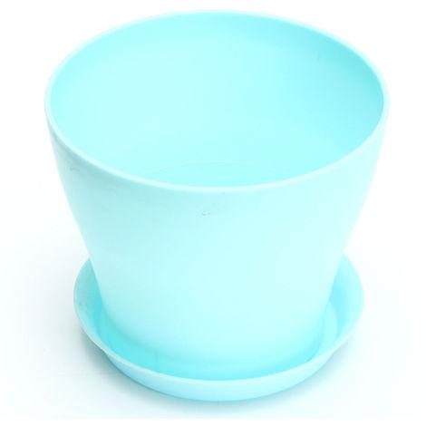 Plastic flowerpot with blue decoration Hasaki