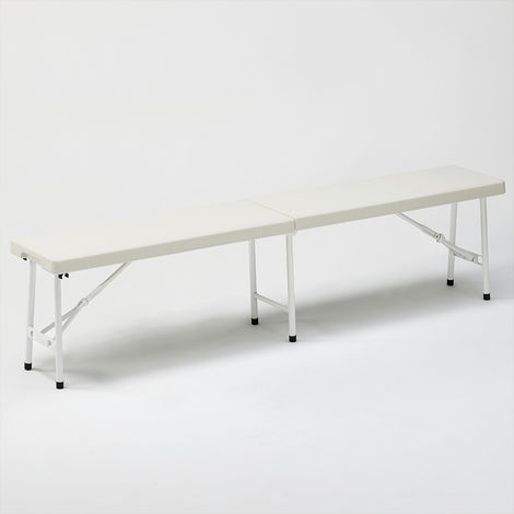 Plastic folding bench 183x30 for garden and camping MONT BLANC