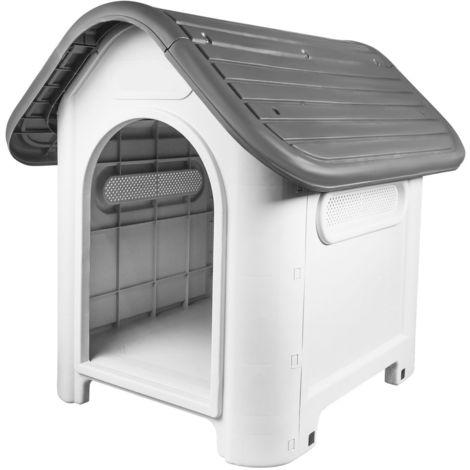 Plastic Pet Kennel - Grey