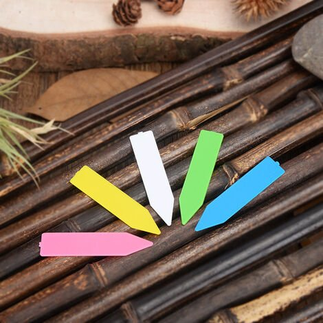 """main image of """"Plastic Plant name tag Flower tag marker Seed name Stake tags nursery seedlings tags for Potted Garden Herbs Flowers vegetables"""""""