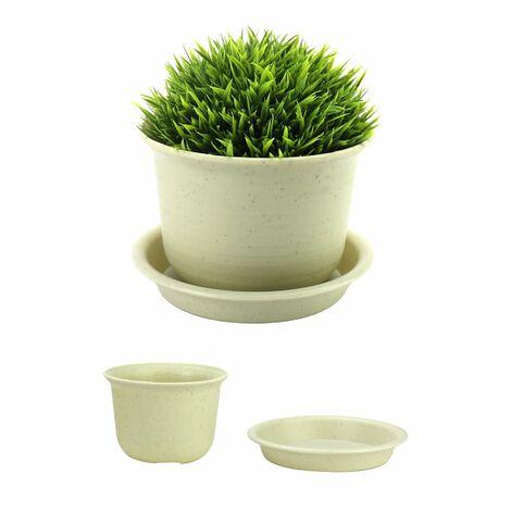 Plastic Plant Pots - Set of 10 | Pukkr Medium