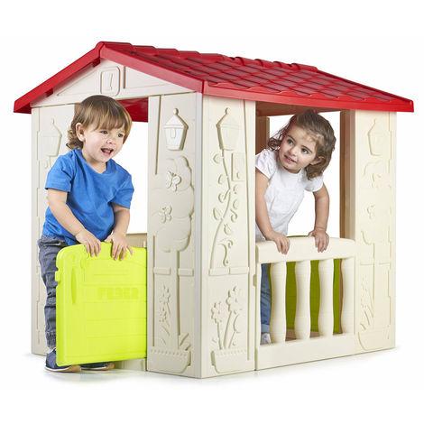 Plastic Playhouse for Children Garden HAPPY HOUSE Feber