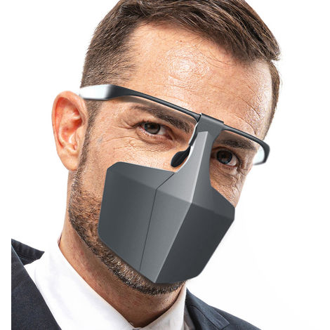 Plastic Protective Mask Against Droplets Anti-fog Isolation Face Mask Breathable Reusable Protective Cover Isolation Shield