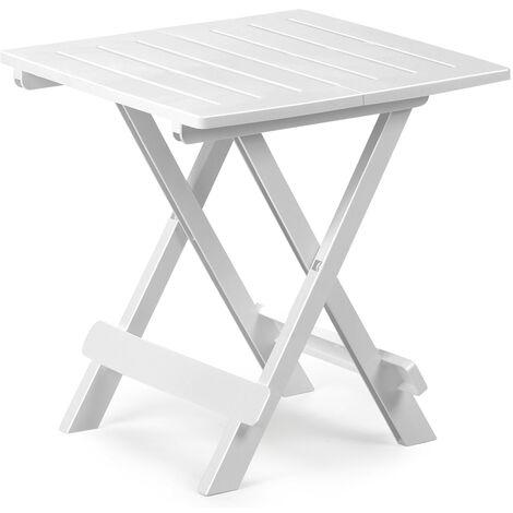 Plastic Side Table Snack Table Green or White - 45cm x 43cm x 50cm Black