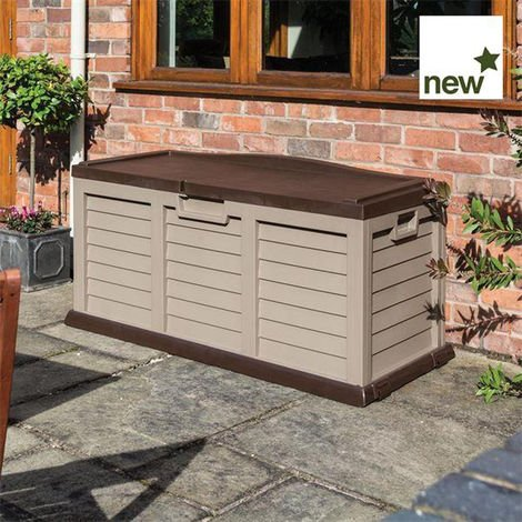 Plastic storage box/bench Mocha