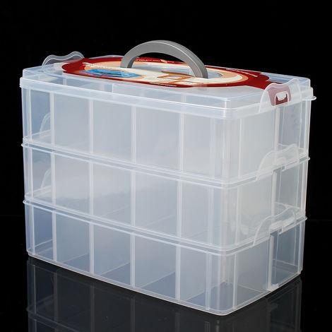 Plastic Storage Box Organizer Bead Jewelry Storage Desk