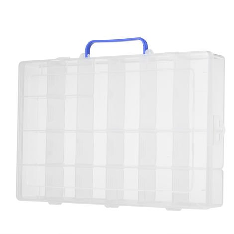 Plastic Storage Box With 20 Compartments, Electronic Component Container