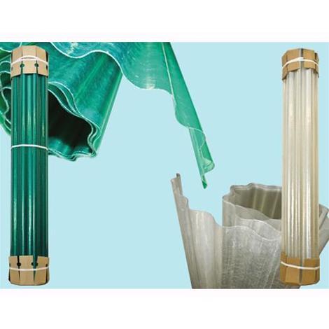 Plastica Ondulata laminata in vetroresina - Verde H.3 mt.- Rt. 20 mt