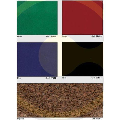 5 h.45 cm uso professionale Velluto adesivo colore nero lunghezza mt