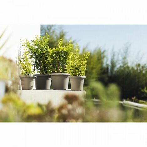 PLASTIKEN Pot a fleurs Ø 30 cm rond - Anthracite