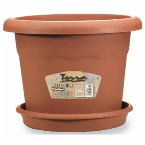 PLASTIKEN Pot a fleurs - Ø 60 cm rond - Terracotta
