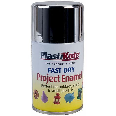 Plastikote 440.0001500.046 150-S Fast Dry Enamel Aerosol Chrome Effect 100ml