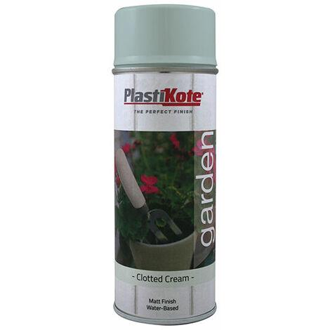 PlastiKote 440.0027204.076 Garden Colours Spray Paint Clotted Cream 400ml
