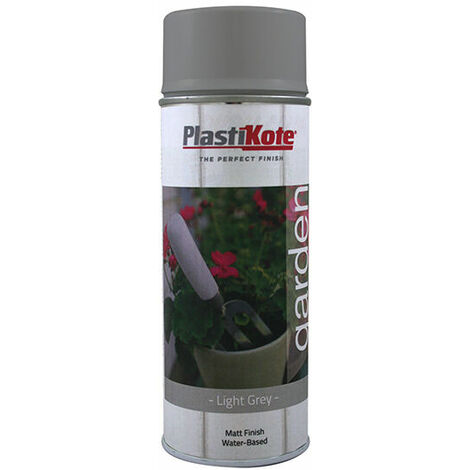 PlastiKote 440.0027209.076 Garden Colours Spray Paint Light Grey 400ml
