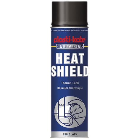Plastikote 796 Industrial Heat Shield Black Spray Paint 500ml