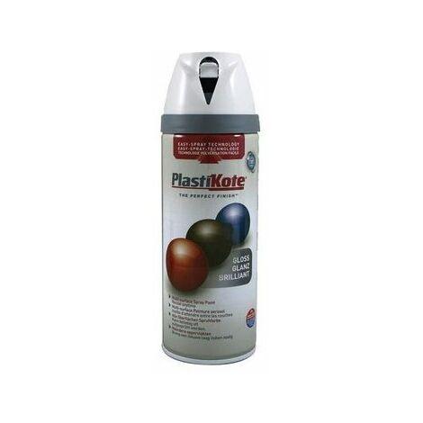 PlastiKote PKT21122 Twist & Spray Gloss Pure Brilliant White 400ml