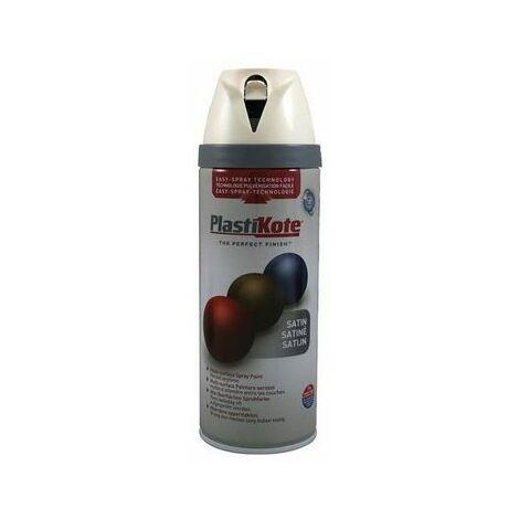 PlastiKote PKT22124 Twist & Spray Satin Pure Brilliant White 400ml