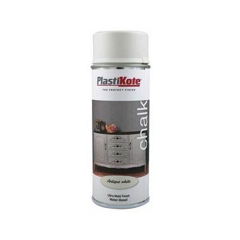 PlastiKote PKT27107 Chalk Finish Spray Antique White 400ml