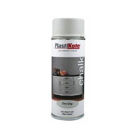PlastiKote PKT27109 Chalk Finish Spray Dove Grey 400ml