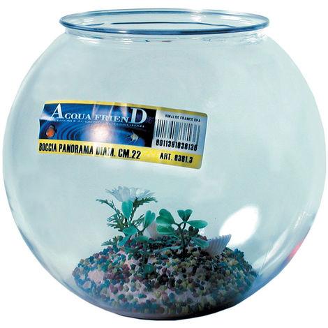 Plastikschüssel-Aquarium mit Panorama