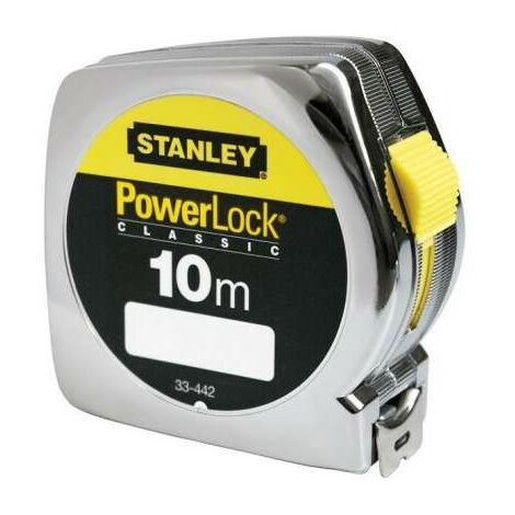 plastique de mesure de 10m25mm de POWERLOCK enveloppe Stanley 33-442