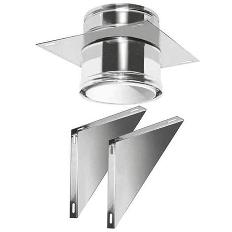 plastique PPS-INOX CONDUIT DN 080/100 WALL SUPPORT OUVERTDP
