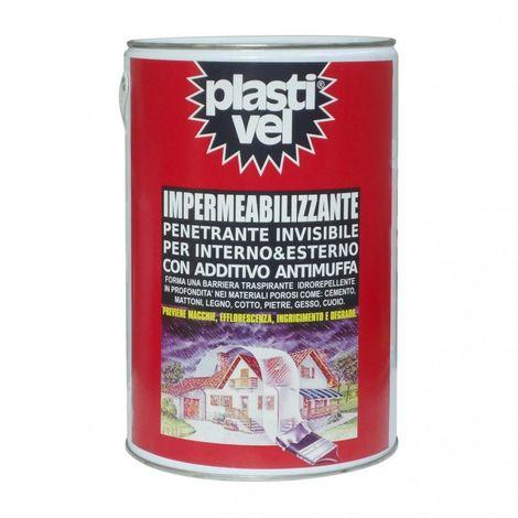 PLASTIVEL IMPERMEABILIZZANTE LT 5 INVISIBILE TRASPARENTE PROTETTIVO