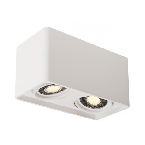 PLASTRA, double, plâtre blanc, GU10 LED 2x 17,5W max. - Blanc
