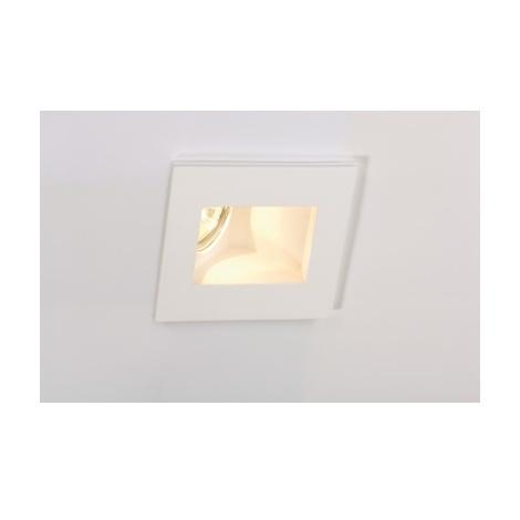 PLASTRA, encastré, GU10, indirect, carré, plâtre, 35W max. - Blanc
