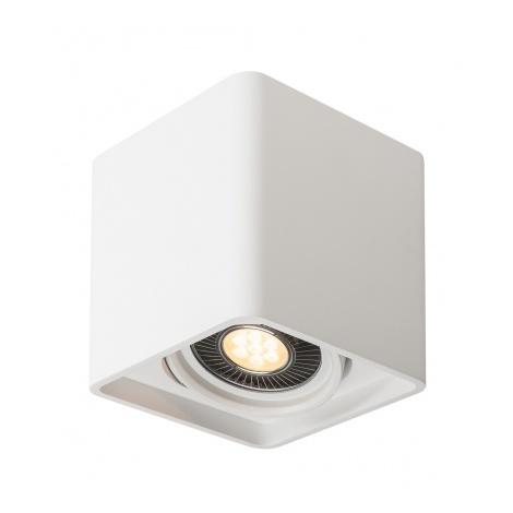 PLASTRA, simple, plâtre blanc, GU10 LED 17,5W max. - Blanc