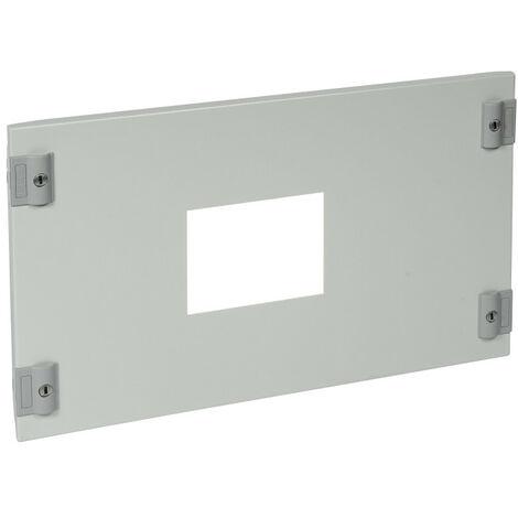 Plastron métal 1-4 tour pour 1 DPX630 en position horizontale dans XL3400 hauteur 300mm (020325)