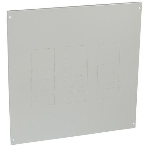 Plastron métal à vis pour 1 à 3 DPX630 avec bloc différentiel en position verticale dans XL34000 et XL3800 24 modules (020922)