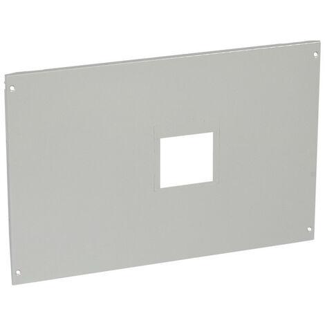 Plastron métal à vis pour 1 DPX1600 fixe avec commande en position verticale dans XL34000 hauteur 400mm 24 modules (021114)