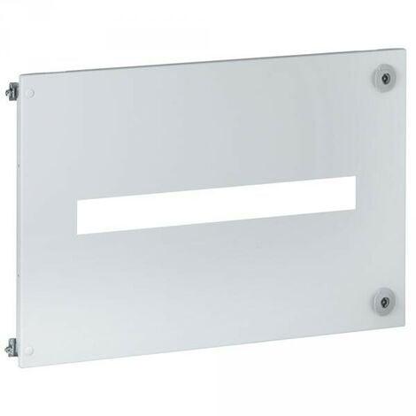 Plastron métal gris verticale largeur 400mm avec charnières et serrure pour coffret XL3 4000 LEGRAND 021211
