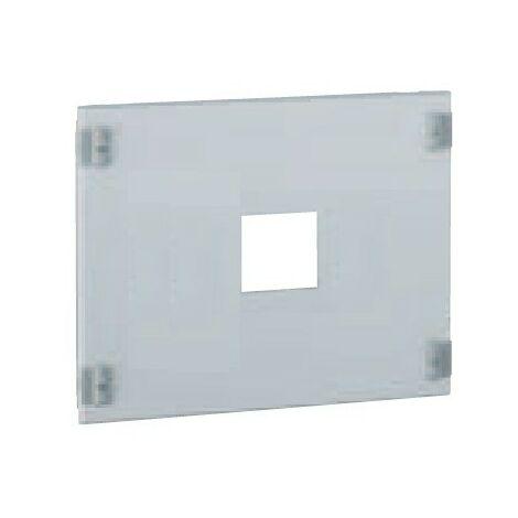 Plastron metal longueur 600mm hauteur 400mm emplacement DPX 250 / 630 centré pour coffret XL3 LEGRAND 020321
