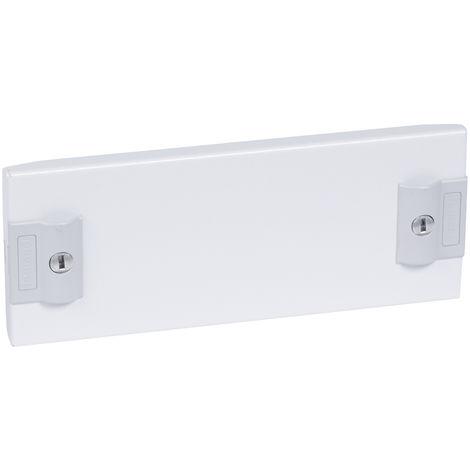 Plastron plein métal XL³ 400 - pour gaines à câbles - H 100 mm