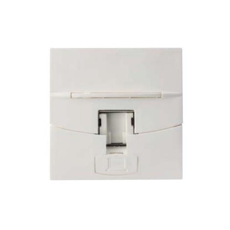Plastron RJ45 simple blanc 45X45mm pour connecteurs Keystone Volition (non incl) 3M TELECOM POUYET 586000