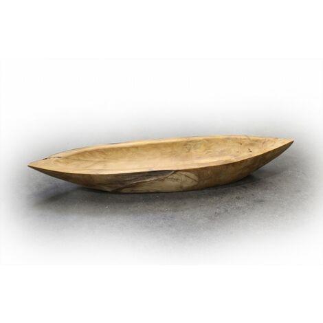 Plat 60 cm en teck - Leaf - Marron