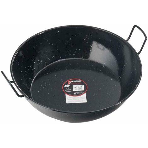 Plat à paella émaillé haut Ø 40 cm - Noir