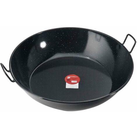 Plat à paella émaillé haut Ø 60 cm - Noir