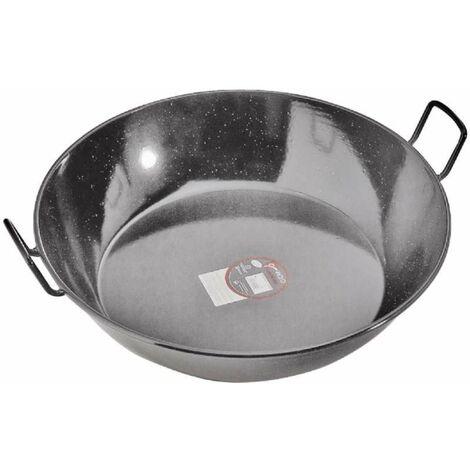 Plat à paella haut en métal avec 2 poignées ø 60cm