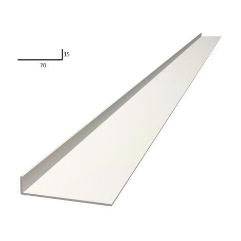 Plat de battement 2,2m largeur 70mm blanc - EUROPLIAGE - Blanc