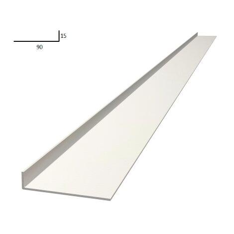 Plat de battement 2,2m largeur 90mm blanc - EUROPLIAGE - Blanc