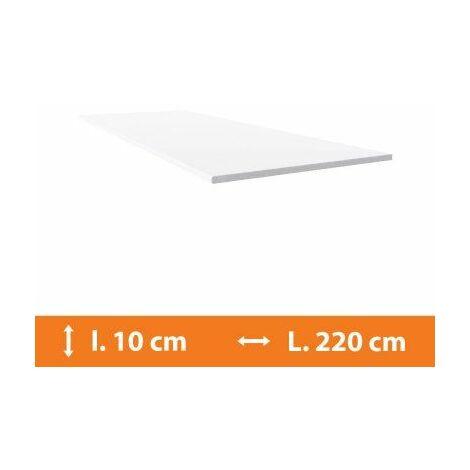 Plat PVC Blanc - L.220 x l.10cm - Blanc