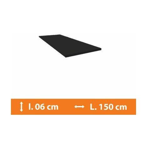 Plat PVC Gris - L.150 x l.6cm - Gris