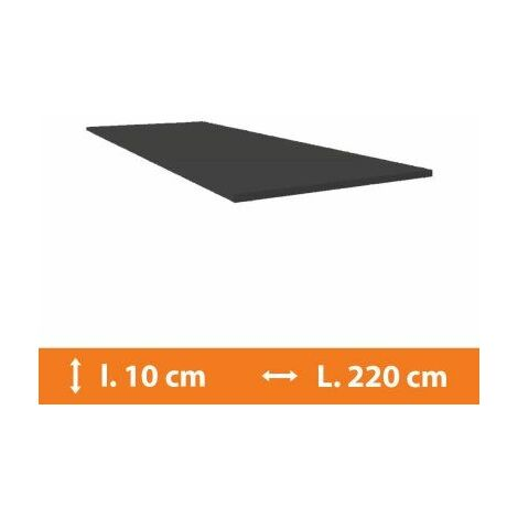 Plat PVC Gris - L.220 x l.10cm - Gris
