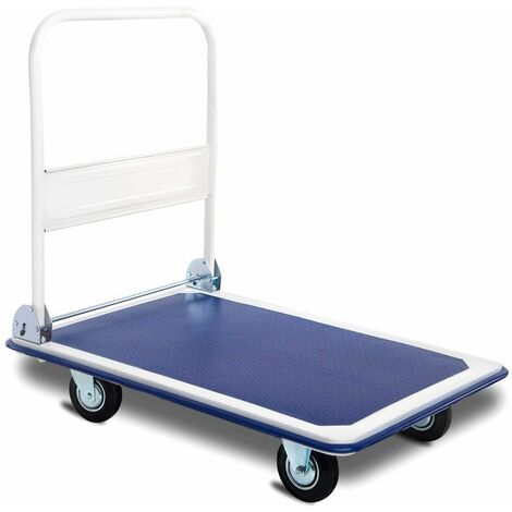 Plataforma de Carga Plegable hasta 300 kg Carro de Transporte con Ruedas