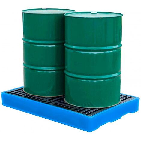 Plataforma de retención para 2 bidones de 200 litros
