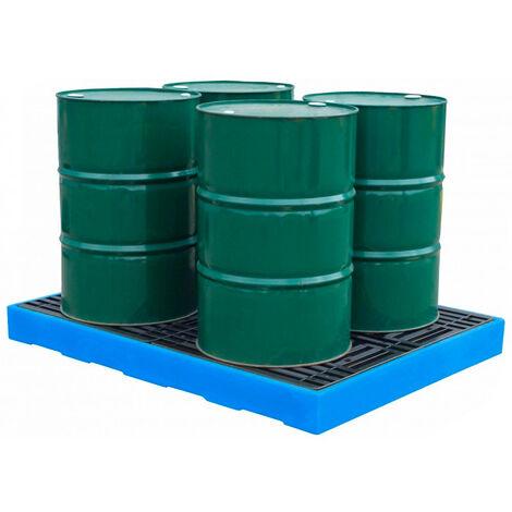Plataforma de retención para 4 bidones de 200 litros